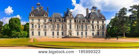 Elegant magnificent Cheverny castle, most well preserved castle in Loire Valley, France
