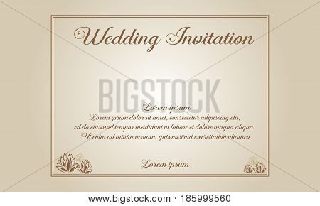 Collection stock of wedding invitation or card style illustration