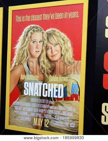 LOS ANGELES - MAY 10:  Snatched Poster at the