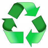A Quality Recycle symbol image in green poster