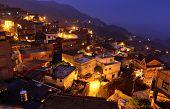 Jiufen at night , village in Taiwan poster