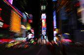 Circular blur of Times Square New York poster