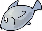 Fish Cute friendly cartoon marine creature hand-drawn illustration poster