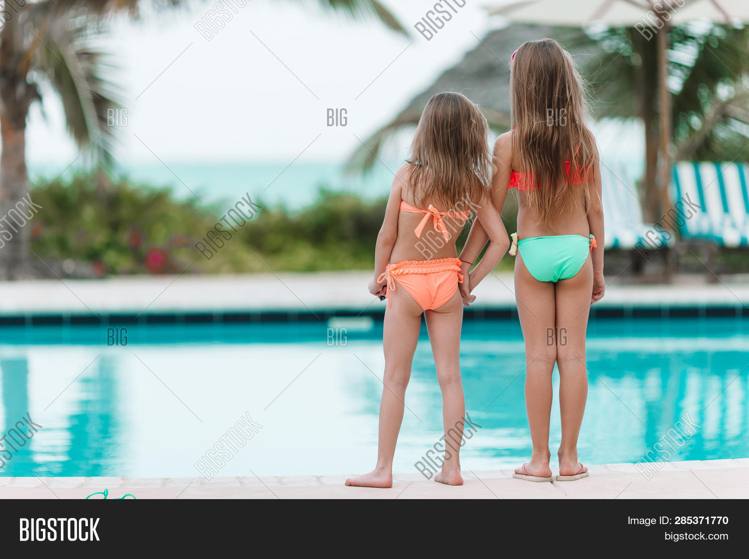 Adorable Little Girls Image Photo Free Trial Bigstock