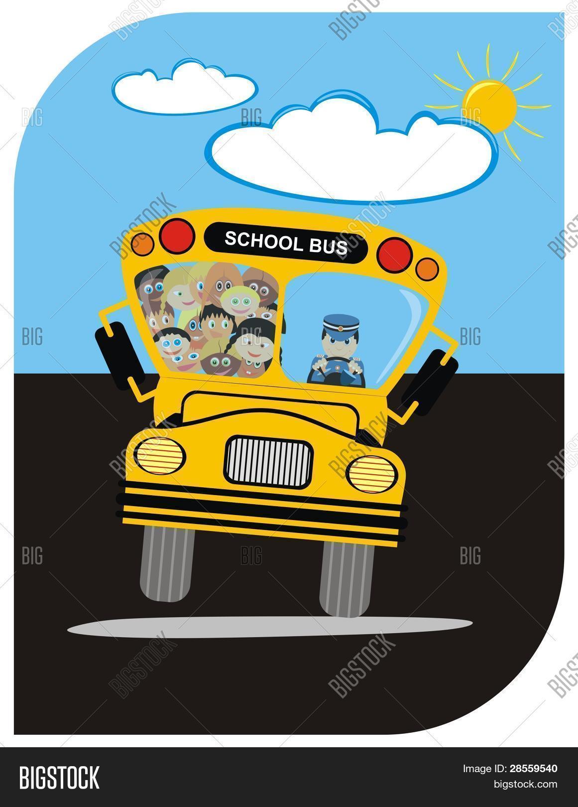 Funny Cartoon Images Of Boys vector - school bus vector & photo (free trial) | bigstock