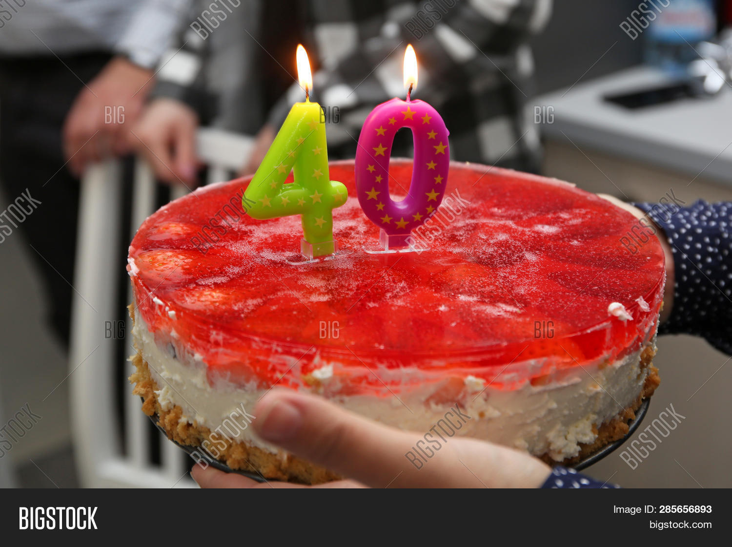 Awesome Birthday Cake Candles Image Photo Free Trial Bigstock Personalised Birthday Cards Veneteletsinfo