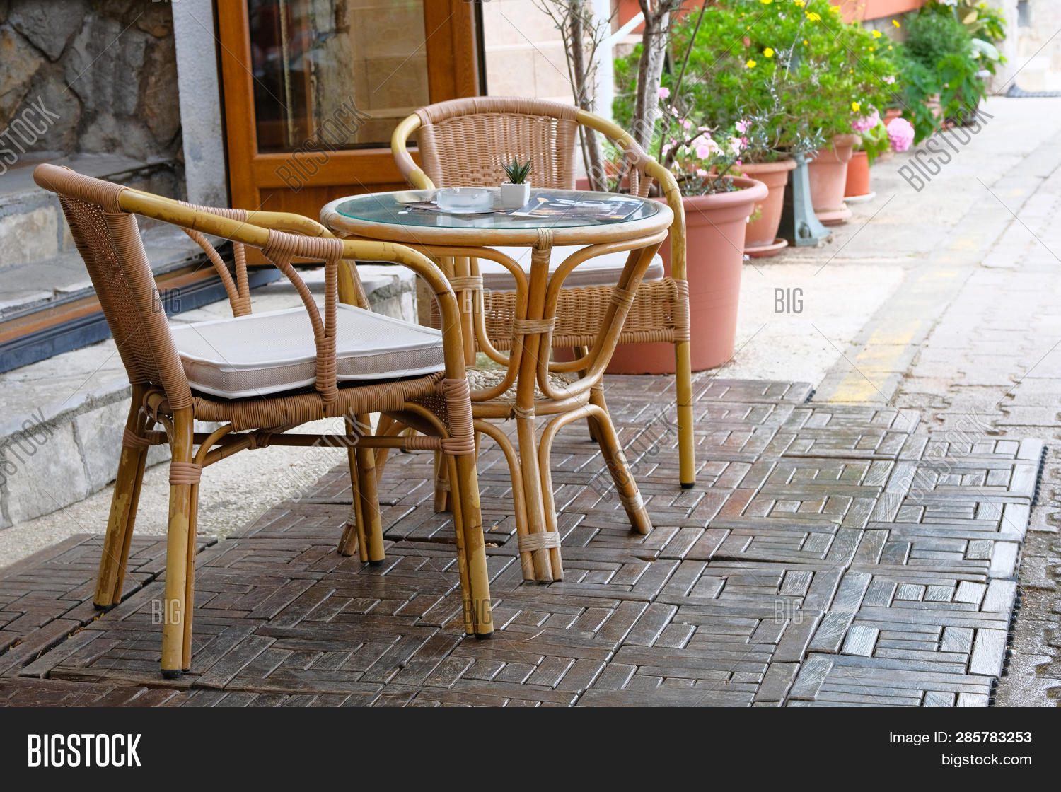 Rattan Table Chairs Image Photo Free Trial Bigstock