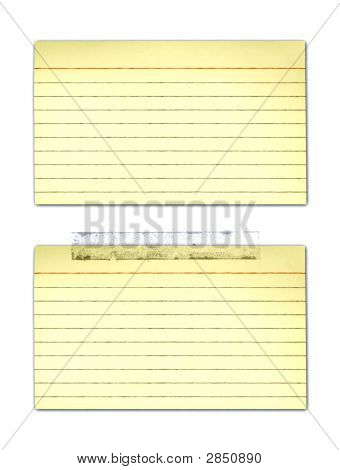 Old Yellowed Index Cards