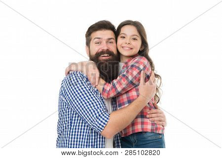 Best Dad Ever. Child And Dad Best Friends. Friendly Relations. Parenthood And Childhood. Fathers Day