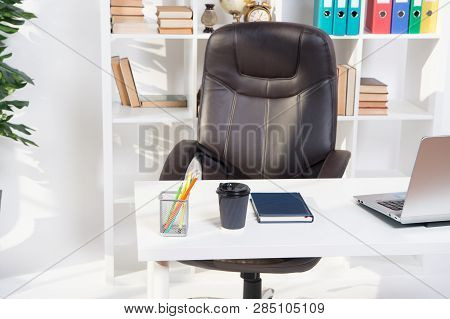 Office Interior. Table In Modern Office Interior. Empty Interior Design. Office Life. Interior Of Of