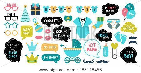 Baby Shower Photo Booth Photobooth Props Set