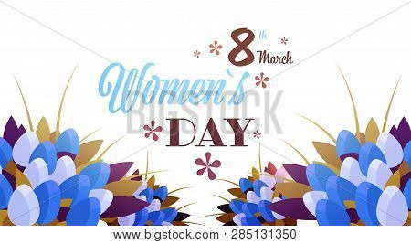 Bouquet Of Tulip Flowers 8 March Happy Womens Day Concept Beautiful Floristry For Holidays Greeting
