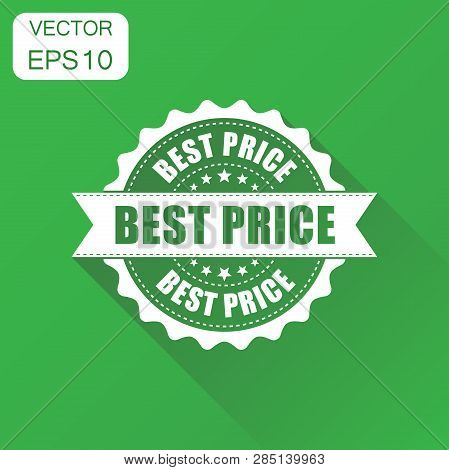 Best Price Sale Rubber Stamp Icon. Business Concept Best Price Stamp Pictogram. Vector Illustration