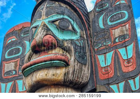 Replica of Chief Johnson Totem Pole, Ketchikan Alaska, poster