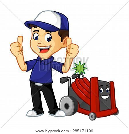 Hvac Cleaner Or Technician Give Thumbs Up