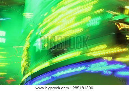 Synthwave Disco Lights Funfair Fairground Disco Lights Neon Background Synthwave Night Colors Of The