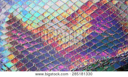 Background Iridescent Luminous Shining Metallic Futuristic Opal Dancing Moving Reflective Rainbow Co