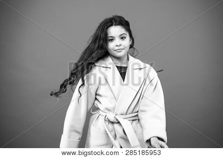 My Hair My Look. Little Kid With Stylish Long Hair. Small Girl With Fashionable Hair. Little Child W