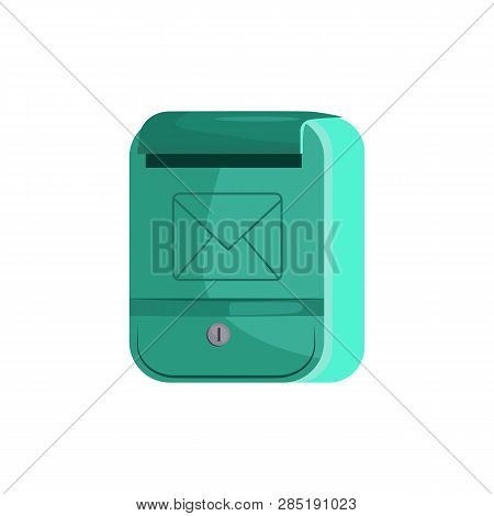 Modern Mailbox With Key Hole. Letterbox, Sending, House. Can Be Used For Topics Like Correspondence,