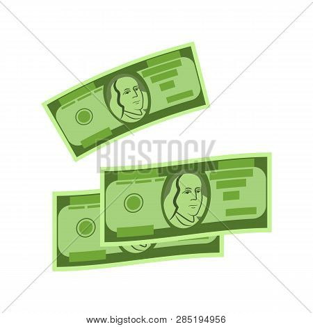 Three Dollars Vector. Payment, Buying, Banknotes. Money Concept. Vector Illustration Can Be Used For