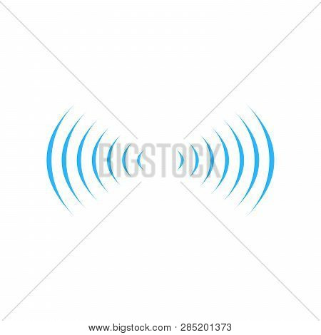 Wifi Sound Signal Connection In Two Dirrections, Sound Radio Wave Logo Symbol. Vector Illustration I