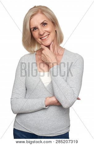 Middle Aged Woman Smiling