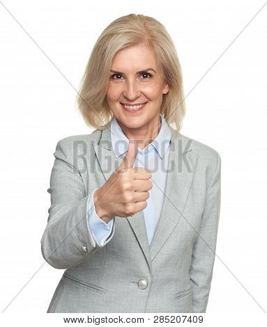 Smiling Mature Attractive Businesswoman