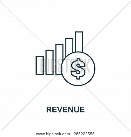 Revenue Outline Icon. Thin Line Element From Crowdfunding Icons Collection. Ui And Ux. Pixel Perfect