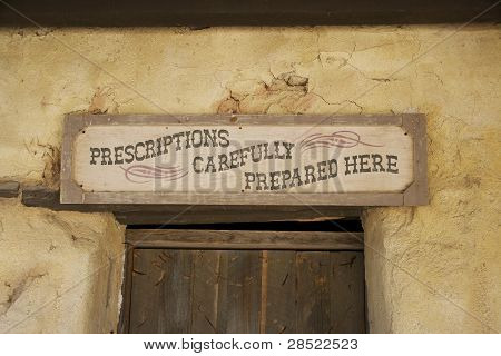 Old store front signage in Tucson Arizona