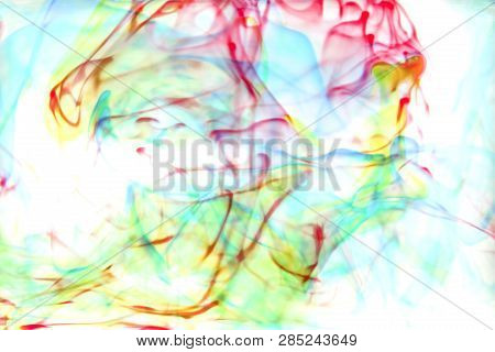 Flowing Abstract Colors In Water, Unique Colorful Shapes