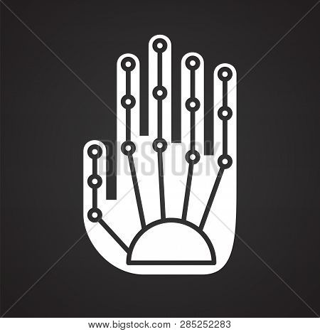Bionic Prothesis Icon On Black Background For Graphic And Web Design, Modern Simple Vector Sign. Int