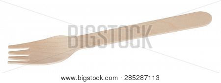 Wooden fork cheap natural cutlery