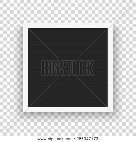 Set Of Template Retro Frame Photo On Transparent Background. Vector Illustration For Your Photos Or