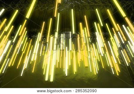 Hanging Florescent Tube Decor