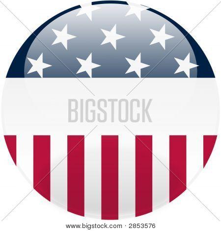 United States Round Button