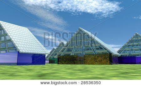 soild glass homes