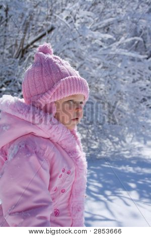 Young Girl In Snow 3