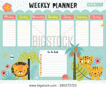 Kids Weekly Planner Vector & Photo (Free Trial) | Bigstock