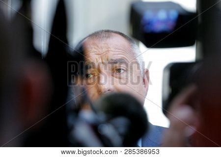 Sofia, Bulgaria - July 2: Ex-prime Minister And Leader Of Gerb Boyko Borisov Speaks In Front Media I