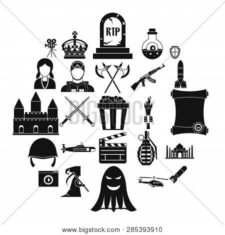 Movie Director Icons Set. Simple Set Of 25 Movie Director Vector Icons For Web Isolated On White Bac