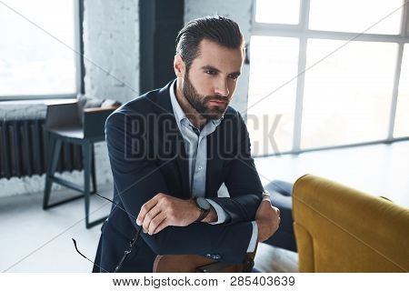 Handsome Bearded Man With A Very Interesting Look
