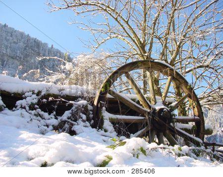 Winter In Koenigsee. Germany, Bayern.