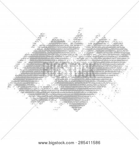 Gray Stripped Grunge Banner. Abstract Image. Vector Element For Different Design
