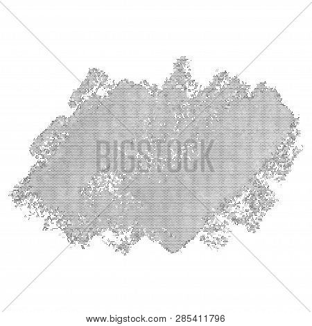 Halftone Abstract Blob. Vector Element For Different Design