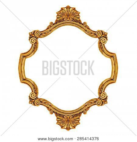 Antique frame isolated on white background, including clipping path