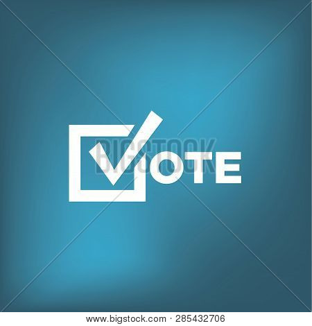 2020 Vote Icon With Check Mark For Voting