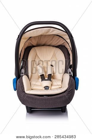 Baby Car Seat Isolated On White Background