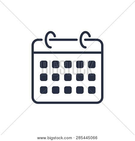 Calendar Icon Vector. Agenda App, Business Deadline, Date Page Icon. Vector Illustration Isolated On