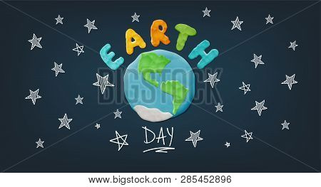 Plasticine Earth And Sign
