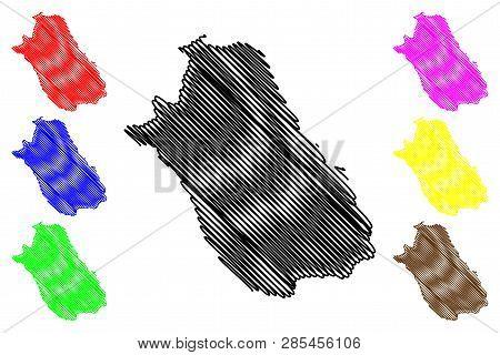 Fars Province (provinces Of Iran, Islamic Republic Of Iran, Persia) Map Vector Illustration, Scribbl